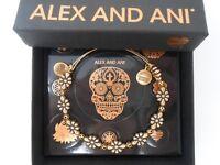 Alex and Ani Blossom Bangle Bracelet Rafaelian Gold New Tag Box Card