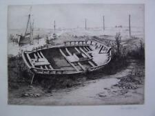 Edwin Betts - Etching - Marine Ship Boats Shipping  - Unmounted & Unframed.