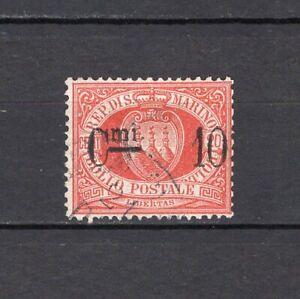 #243 - San Marino - 10 cent sovrastampato, 1892 - Usato