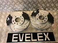 DRILLED AND GROOVED FRONT DISCS & PADS SAAB 93 OPEL VAUXHALL SIGNUM VECTRA 285mm