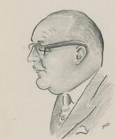 Jad Davies (1909-1988) - A Pair of Graphite Drawings, Two Head Studies