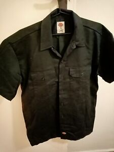 Dickies Short Sleeve Work Shirt - Black L