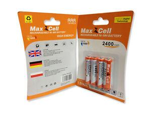 Akkus MaxCell - Aufladbare Batterien - NI-MH 2400mAh - AAA - R03 1.2V - Micro