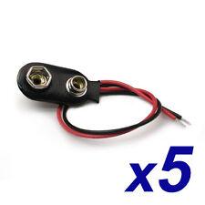 5 Conectores Pila Bateria 9 Voltios★5 pcs connectors 9V Battery Clip Snap PP6