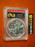 2012 $1 AMERICAN SILVER EAGLE PCGS MS70 THOMAS CLEVELAND SIGNED ARROWS LABEL