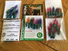 Vintage Christmas Lights Noma G1 6v 0.75w replacement spare bulbs x 6