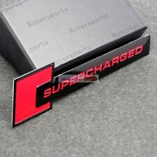 Red Turbo Charger SUPERCHARGED Engine Emblem Badge Sticker For Jaguar Land Rover
