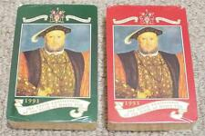 KING HENRY VIII - 1991 SEALED DOUBLE PACK OF WORSHIPFUL COMPANY PLAYING CARDS