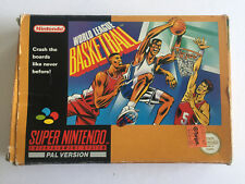 World League Basketball Complete In Box/Boxed for Super Nintendo/SNES - VGC -PAL