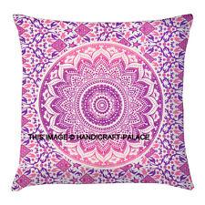 Ombre Mandala Cushion Cover Tapestry Indian Meditation Pillow Case Handmade Boho