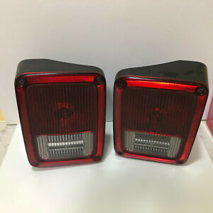 2007-2018 OEM Jeep Wrangler Taillights Tail Lamps RH & LH 55077891AG 55077890AG