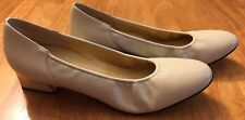 Naturalizer Leather Upper Block Heel Pumps Size 10 AA S37 465N86