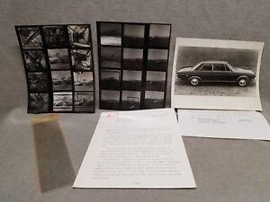 1970 Audi Press Release Super 90 100LS Photos + Negatives Joseph Wherry