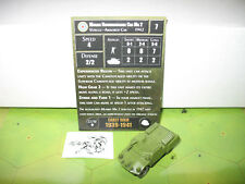 Axis & Allies Early War Morris Reconnaissance Car Mk 2 with card 22/50