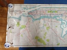 """1925 Original Huge Subway Map """"Routes of the Interborough.""""(Irt)by Ohman"""