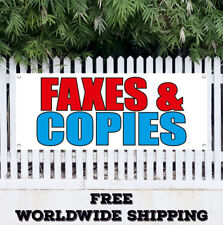 Faxes Copies Advertising Vinyl Banner Flag Sign Office Box Copy Fax Ups Usps