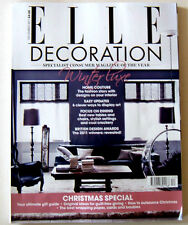 Elle Decoration Magazine December 2011 vgc