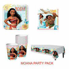 Moana Party Supplies PARTY PACK Of Dinner Plates Cups Lunch Napkins Tablecloth