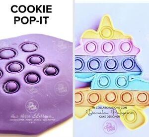 Set COOKIE POP-IT Poppit Formine Biscotti Cookie Cutter