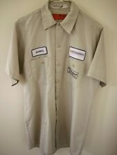 Stingray Powerboats Patches Racing Mechanic Rockabilly Short Sleeve Work Shirt