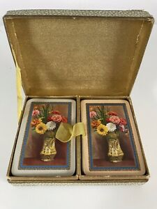 Vintage Waddingtons Patience Playing Cards 2 Sets Boxed
