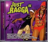 Music CD Reggae Dancehall Just Ragga Volume 5 Various Artists DJ Sealed Album