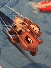 Disney Pixar Cars Full Size Flat Sheet McQueen Mater Crafts Fabric