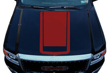 Vinyl Graphics Decal Wrap Kit fits 2014-2017 GMC Sierra RACING STRIPES V2 Red