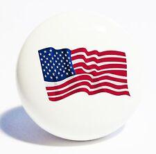 USA AMERICAN FLAG HOME DECOR CERAMIC KITCHEN  KNOB DRAWER CABINET PULL