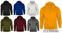 Plain Pullover Hooded Sweatshirt Mens Hoody Jumper Classic Work Wear Top - HNL