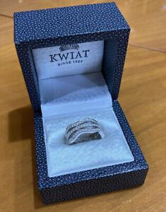 Kwiat Wave Diamond Ring 0.83cts 18k White Gold 10mm Sz 6