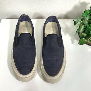 Converse John Varvatos Deck Star 67 Slip On Shoes Sneakers Navy Mens 8 Womens 10