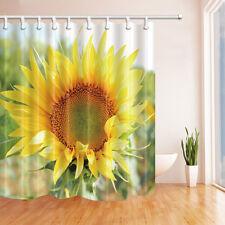 Sunflower flower Shower Curtain Bedroom Waterproof Fabric & 12hooks 71*71inch
