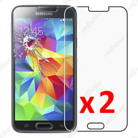 x2 Film Protection écran Verre Trempé Anti Casse Samsung Galaxy S5 S5 New G903F