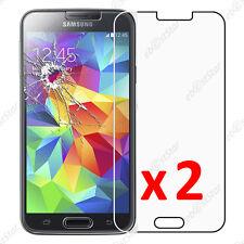 x2 Film Protection écran Verre Trempé Anti Casse Samsung Galaxy S5 S5 New G903F