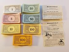 Monopoly Money - Replacement Board Game Parts Tokens & Pieces Z1
