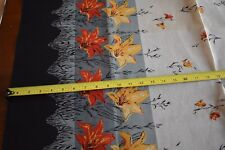 "By 1/2 Yd, 38"" Wide Vintage 1940's-60's, Floral Border Print on Organza, N1615"