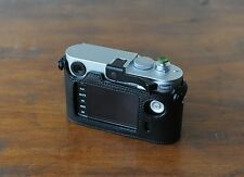 Zhou Black Leather Half Case for Leica Digital M Typ240 Type240 w/Build-in Grip