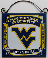 New West Virginia Moutaineers University College Licensed Wooden Sign Fan Sport