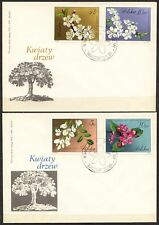 POLAND 1971 FDC SC#1860/69  Flowering trees and shrubs.