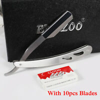 Stainless Steel Barber Edge Razor Manual Straight Razor Folding Shaving Knife