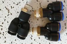 Pneumatique 10mm raccords instantanes Multipack droite, coudes /& tees tc 10 pack