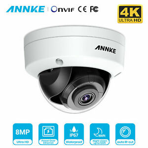 ANNKE 4K 8MP HD IP Network Dome Camera for Home Security POE CCTV System IR Cut