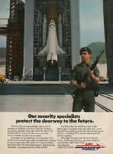 1985 Air Force Security Specialist / NASA Enterprise Space Shuttle - Vintage Ad