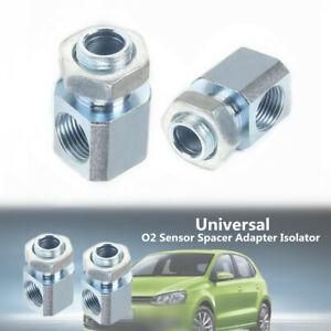 2xM18x1.5 Exhaust Iron 90-Degree O2 Oxygen Sensor Extender Spacer Adapter Parts