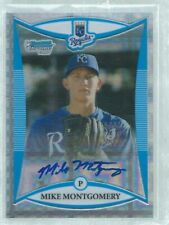 MIKE MONTGOMERY 2008 BOWMAN CHROME 1ST ON CARD AUTO XFRACTOR REFRACTOR #D 88/225