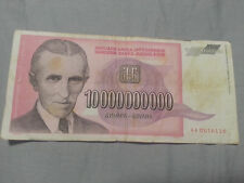 Nikola Tesla Electric Innovator 10 Billion Dinar Bill Inflation fiat Money