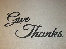 Give Thanks Wood Wall Words Hanging Decor Art Sign