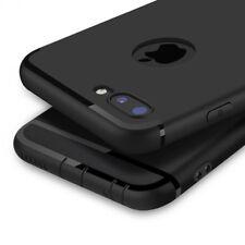 TPU Silikon Handy Schutz Hülle für iPhone X 8 7 6 Plus Cover Case Bumper Schwarz