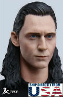 1/6 Loki Tom Hiddleston Head Sculpt Avengers Endgame For Hot Toys Male Figure